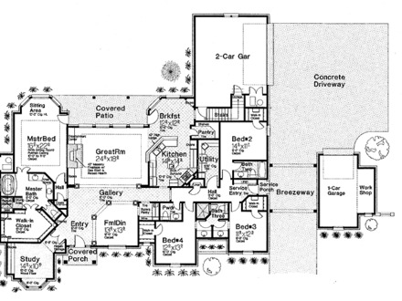 Luxury One Level House Plans One Level House Plans Two Master Bedroom