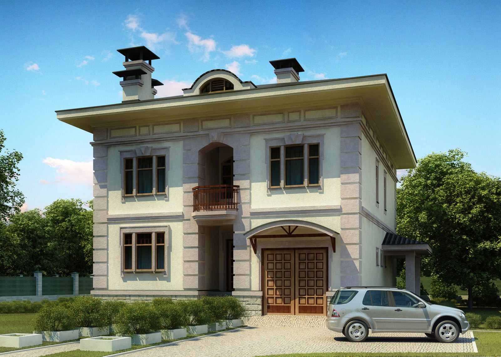 Modern front house elevation drawing front house elevation for Front elevation modern house