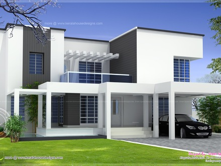 Modern House Plans Modern Box Type House Design