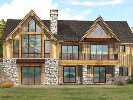 Lakefront narrow lot floor plans lakefront home floor for Lakefront modular home plans