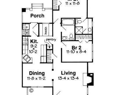One Story Bungalow House Plans Bungalow Tudor House