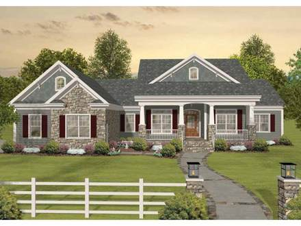 One Story Craftsman Style House Craftsman One Story Ranch House Plans