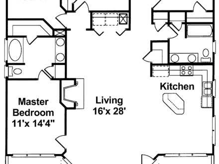 One Story House Plans with Open Concept One Story House Plans
