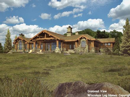 One Story Log Home Plans Short Hairstyle 2015 Large One Story Log Homes