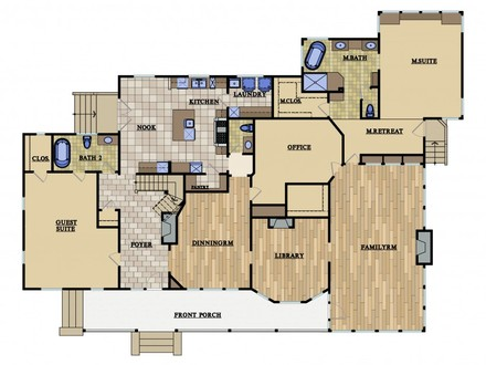 Queen Anne Style House Prairie Style House Floor Plans