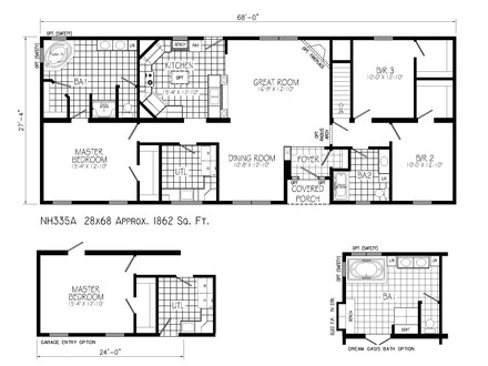 Ranch House Floor Plans with Walkout Basement Ranch House Floor Plans
