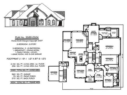 Simple 3 Bedroom House Plans 3 Bedroom House Plan Family Room