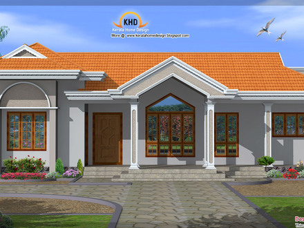 Single Floor House Elevation Single Floor Luxury Homes