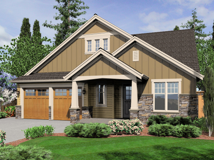 Single Story Craftsman House Plans Craftsman Home House Plan