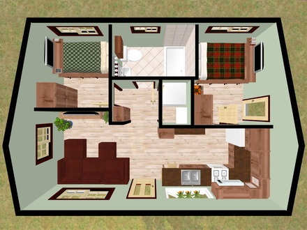 Small 2 Bedroom House Plans Small House Floor Plans