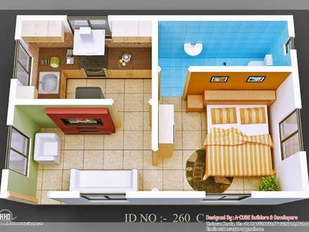 Small House Design Classic 3D Small House Design