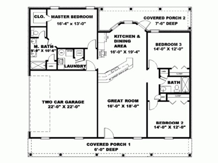 Small House Plans Under 1500 Sq FT Simple Small House Floor Plans
