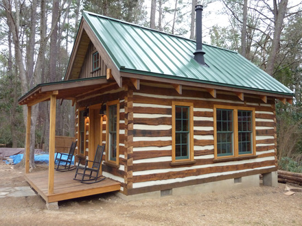 Small Log Cabin Interiors Building Rustic Log Cabins