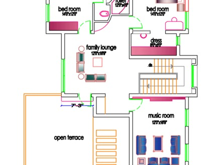 South Indian House Plans Indian Style Home Plans