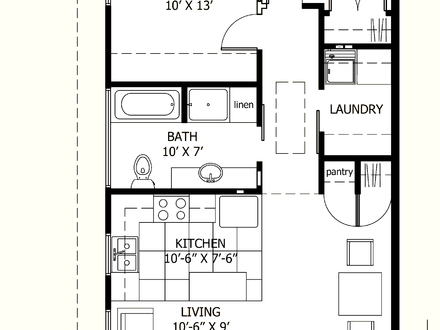 Traditional House Plans House Plans Under 800 Sq FT