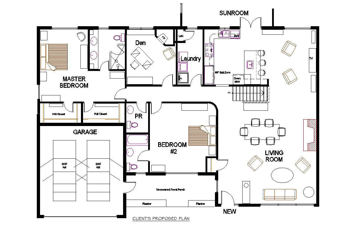 Two bedroom bungalow open concept bungalow open concept for 2 bedroom bungalow floor plans