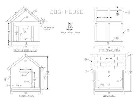 Wooden Dog House Plans Cedar Dog House Plans