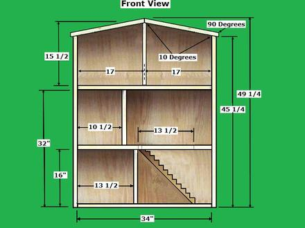 Wooden Doll House Plans Doll House Woodworking Plans