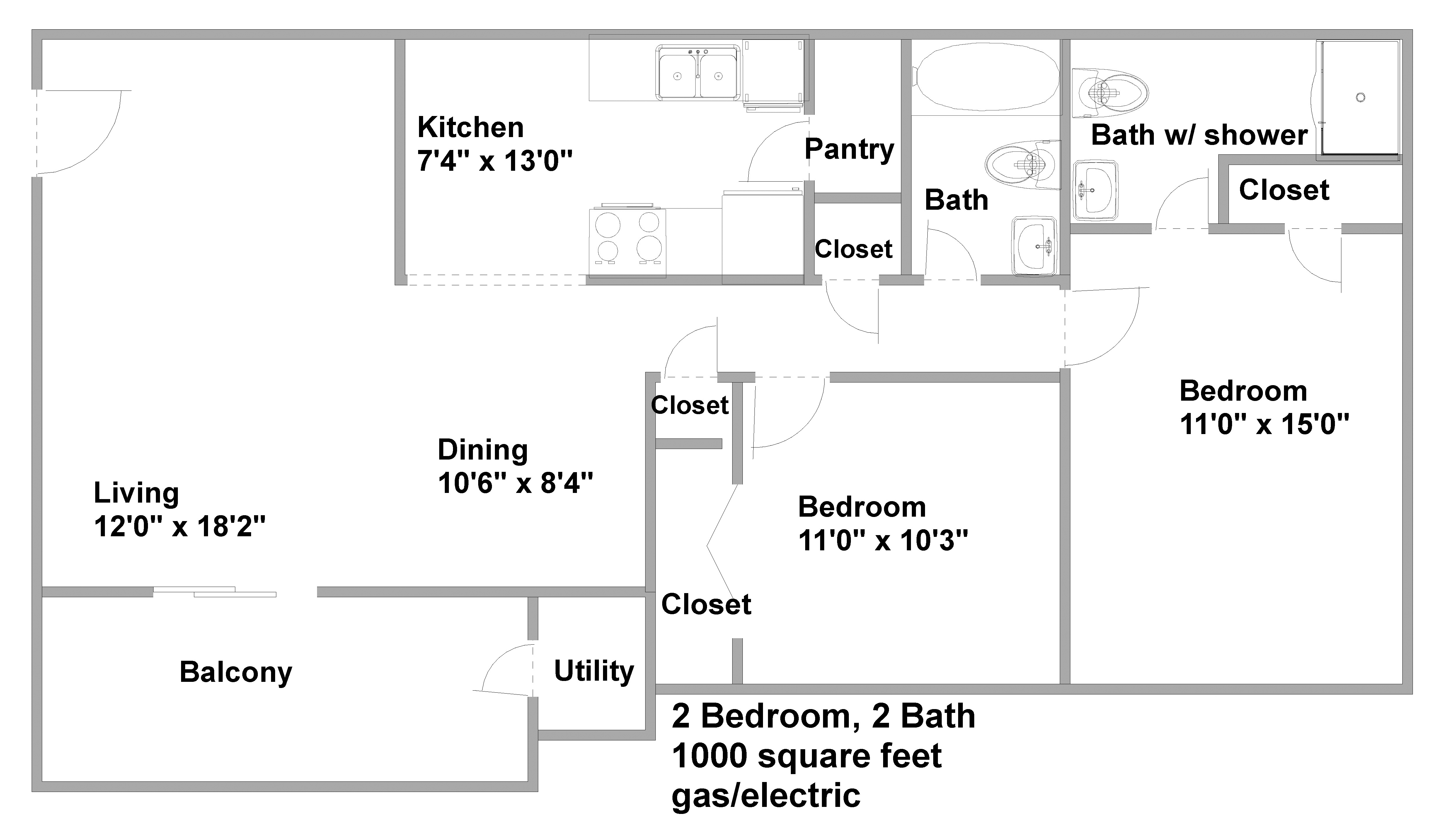 1000 square foot 1 bedroom 1000 square foot apartment for 1000 sq ft floor plan