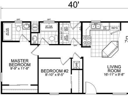 2 Bedroom 20 X 40 Floor House Plans Root AT&T One X 2.20