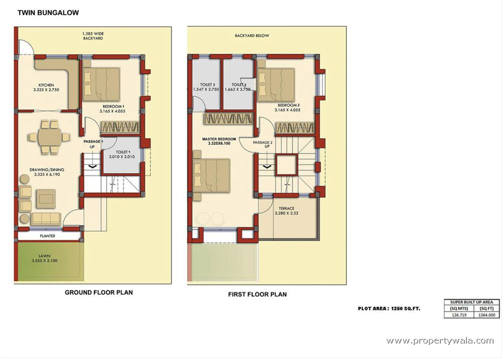 2 Bedroom Bungalow Floor Plans: 2 Bedroom Bungalow Plans Bungalow Floor Plan, Floor Plans