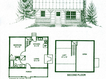 2 Bedroom Cabin Floor Plans Small Cabin Floor Plans with Loft