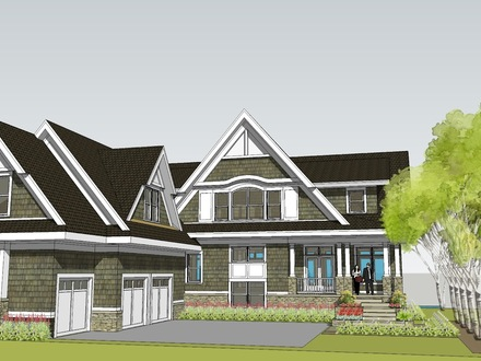 Contemporary lake house plans modern lake house design for Two story l shaped house plans