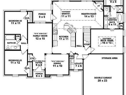 3 Bedroom One Story Open Floor Plans 3-Bedroom Houses for Rent