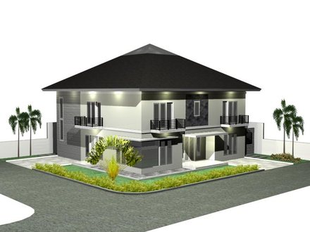3D Modern House Plan Designs Contemporary House Plans