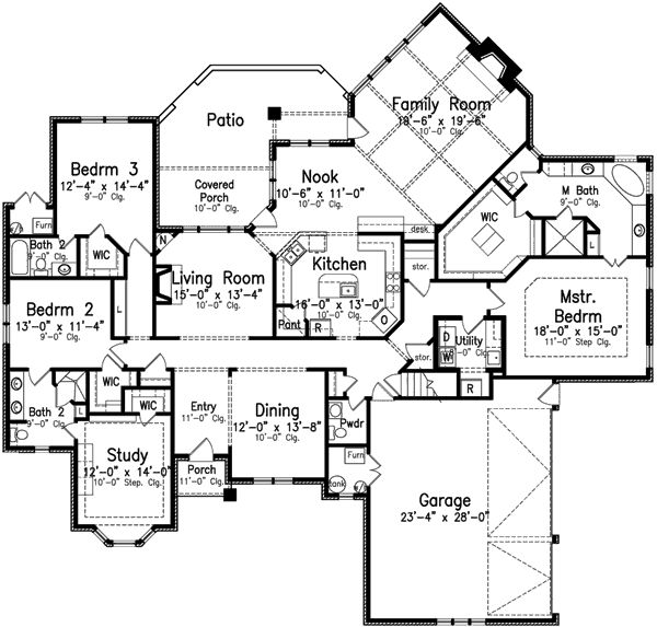 4 bedroom 3 bath appartments layouts 4 bedroom 3 bath for House plans 4 bedroom 3 bath