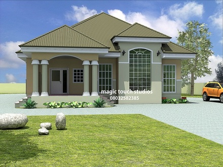 5 Bedroom Bungalow House Plan in Nigeria 5 Bedroom Apartment Floor Plan