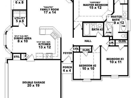 5 Bedroom Single Story House Plans Master Bedroom
