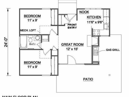 House Plans Under 800 Sq Ft Ranch House Plans House Plans