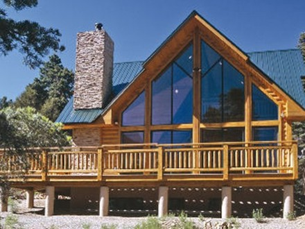Handcrafted log home summit log and timber homes square for Affordable log home plans