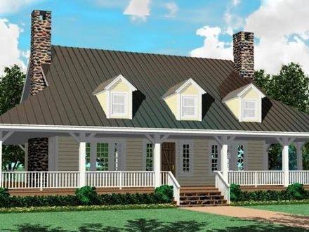 1 5 story home styles 1 story 5 bedroom house plans for Adding a farmers porch to a ranch