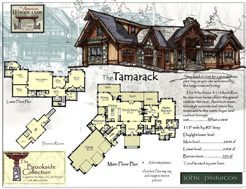 Arts and crafts style house plans arts and crafts style for Arts and crafts house plans