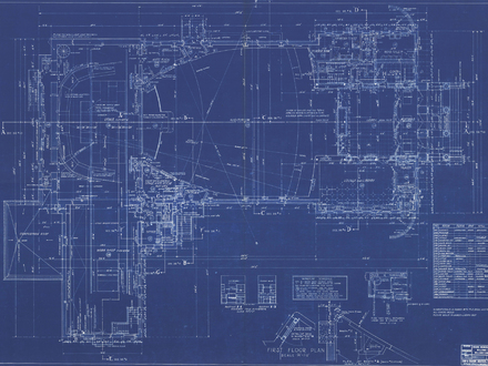 Blue Building Blueprints Skyscraper Blueprints