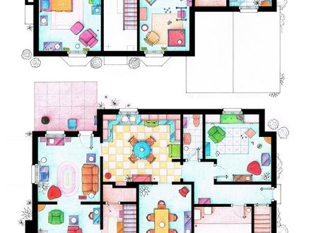 Blueprints for Floor Plans Simpsons Floor Plan