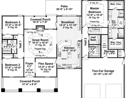Bungalow Cottage House Plans Bungalow House Floor Plans