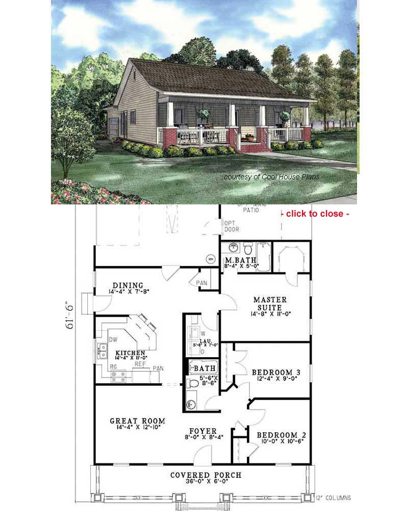 Bungalow floor plan 2 bedroom bungalow plans american for Bungalow house plans with inlaw suite