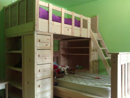 Cabin Bunk Beds Rustic Bunk Beds for Cabin
