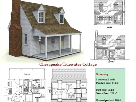 cottage , Stick Built , Tidewater , Tiny House Concept Stick Built Cabin