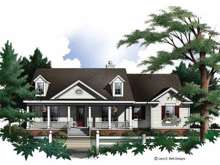 Country House Plans with Dormers Country House Plans with Open Floor Plan