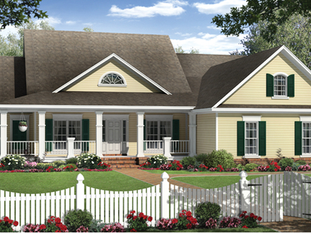 French country house plans country southern house plans for House plans with portico garage