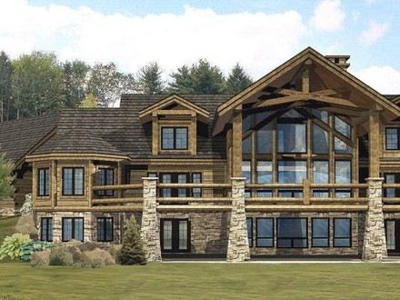 Tomahawk log homes country wisconsin log homes large for Large custom home plans