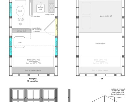 Free Tiny House Floor Plans Tiny Houses On Wheels Floor Plans