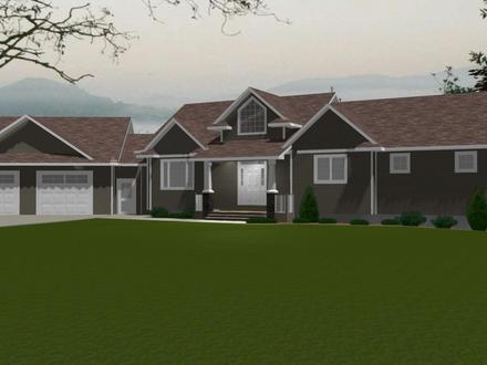 House Plans With Attached 3 Car Garage Italian Villa House
