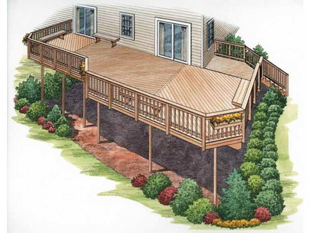 House Plans with Basements House Plans with Second Story Deck