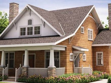 Craftsman style modular homes utah craftsman style homes for Condo plans with garage