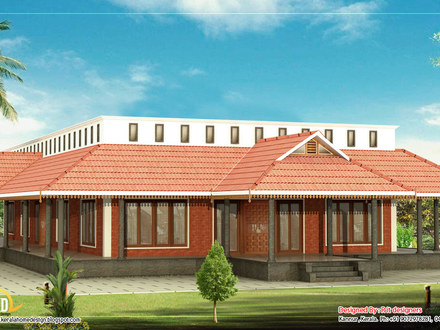 Kerala Style Single Floor House Plan Green Peas Curry Kerala Style